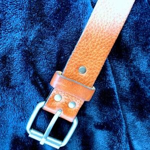 Accessories - Light Brown Leather Belt